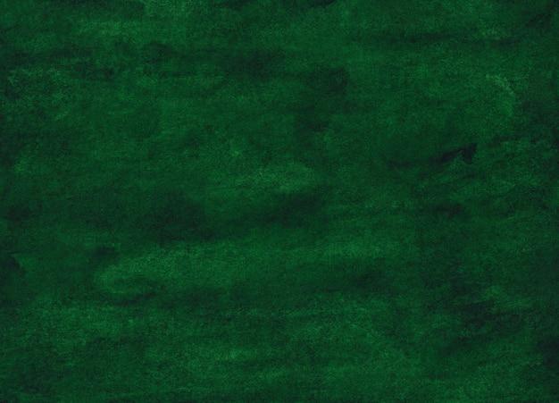 Watercolor deep green painting