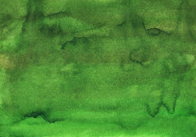 Watercolor deep olive green background painting