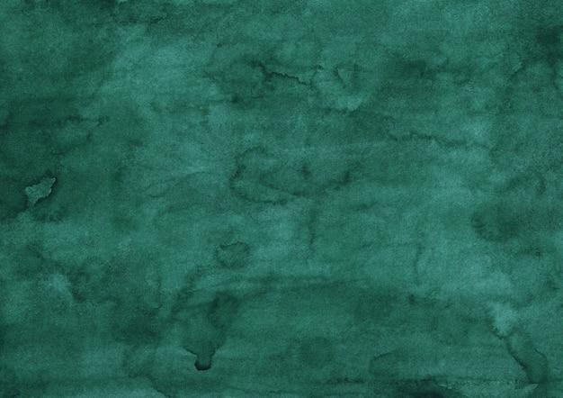Watercolor deep sea green painting