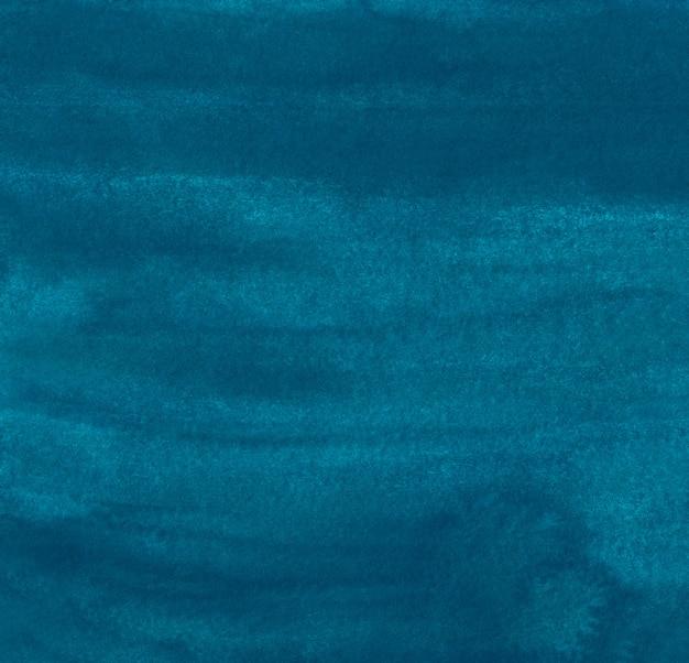 Акварель темно-бирюзовый синий фон