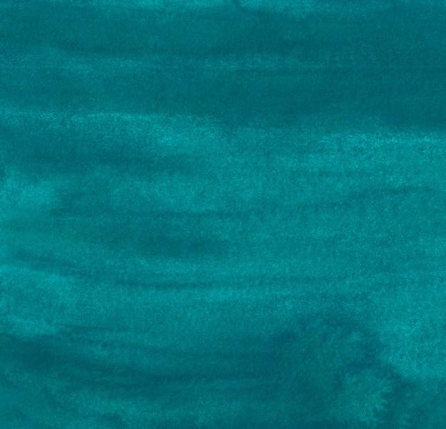 Акварель темно-бирюзовый синий гранж фоновой текстуры