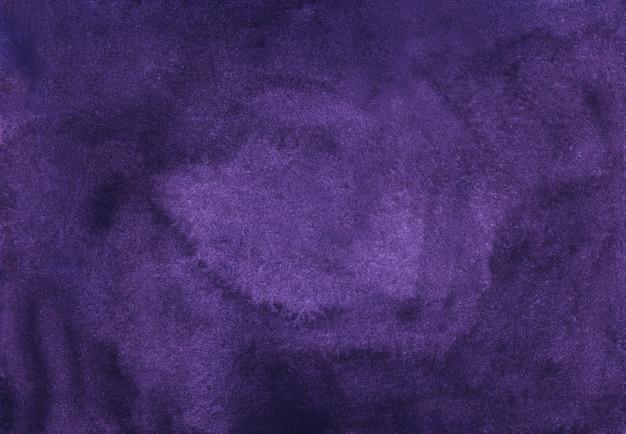 Watercolor elegant deep violet background texture. aquarelle abstract dark purple background
