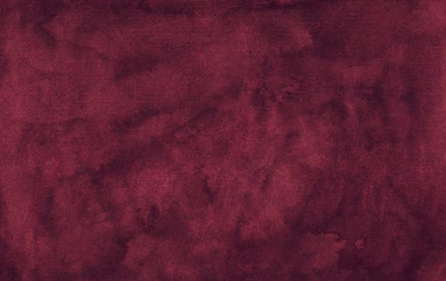 수채화 우아한 먼지가 진홍색 배경 텍스처입니다. 빈티지 워터 컬러 깊은 부르고뉴 배경