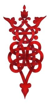 Акварель элемент с декоративной кельтской плетеной