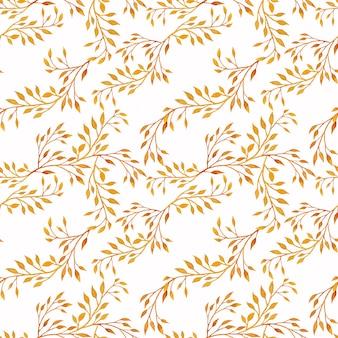 水彩花秋のシームレスパターン