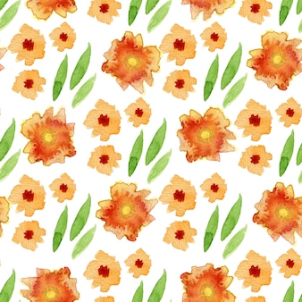 Watercolor floral seamless pattern. can be used for wrapping, textile design