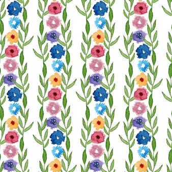 Watercolor floral seamless pattern. can be used for wrapping, textile, wallpaper and package design.