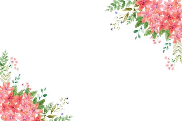 다양한 형식의 수채화 꽃 배경