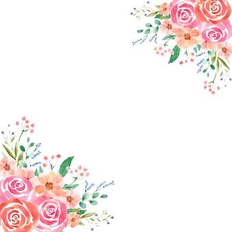 さまざまな形式の水彩花フレーム