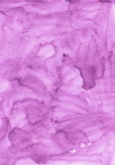 水彩フクシア背景テクスチャ絵画。ヴィンテージ水彩液体ピンク-紫の色の背景。紙の汚れ。