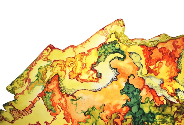 Watercolor gemstones texture. golden jewel stones. texture luxury bright metal. print hand drawn background template.