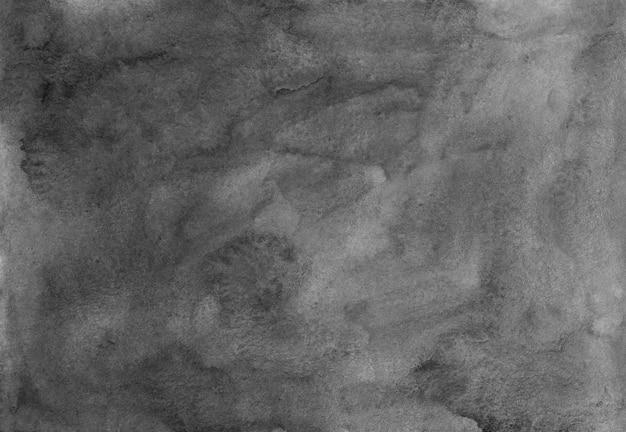 水彩gery背景絵画。古いモノクロ背景暗い灰色の水の色のテクスチャ。