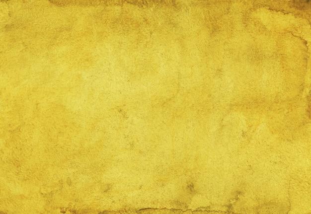 Акварель золотой желтый цвет фона картины Premium Фотографии