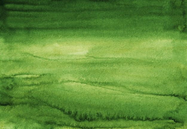 Акварель зеленый фон текстура ручная роспись. акварель абстрактный глубокий ель фон. пятна на бумаге.
