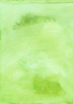 水彩緑黄色背景テクスチャ。 aquarelle明るいライムグリーンの背景。手描き