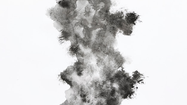 水彩の灰色の雲の形