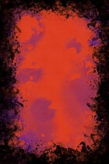 水彩のハロウィーンフレームの背景、ハロウィーンの招待状の背景