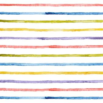 Акварель рисованной яркие полосы горизонтальные линии.
