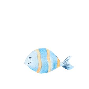 Акварель рисованной рыбы