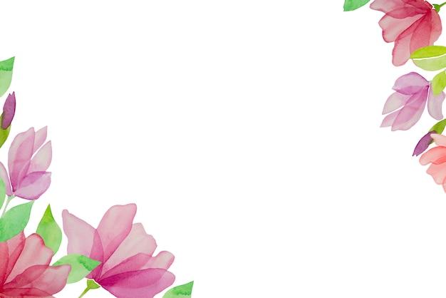 水彩の手描きの花、白い背景で隔離されました。デザイン要素。