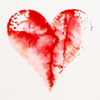 Акварельное сердце. день святого валентина великая открытка, любовь, отношения, искусство, живопись.