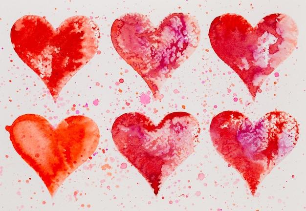 Акварельное сердце. день святого валентина поздравительная открытка, любовь, отношения, искусство, живопись.