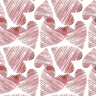 Watercolor hearts seamless background. pink watercolor heart pattern. colorful watercolor romantic texture. - illustration.