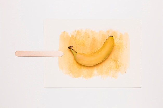 Watercolor ice cream with banana