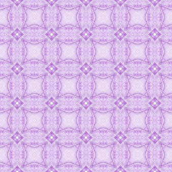Watercolor ikat repeating tile border. purple symmetrical boho chic summer design. textile ready ravishing print, swimwear fabric, wallpaper, wrapping. ikat repeating swimwear design.