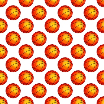 Watercolor illustration basketball ball seamless background perfect for wallpapers covers wrapping