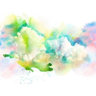 구름과 하늘의 수채화 그림입니다.