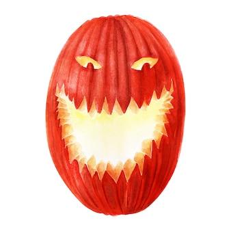 Акварельные иллюстрации на тему праздника хэллоуин. характерные персонажи и атрибуты