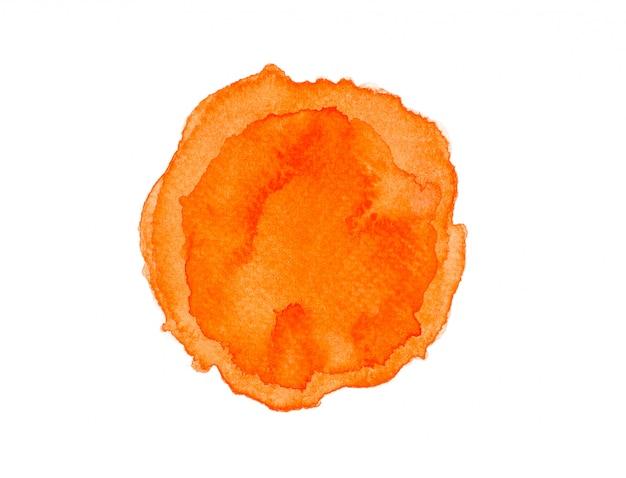 オレンジ色のwatercolor.image