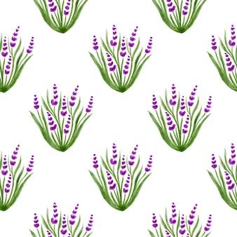 Watercolor lavender pattern.