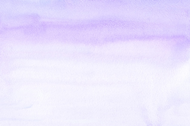 Watercolor lavender and white gradient background texture. aquarelle pastel purple brush strokes backdrop. horizontal template.