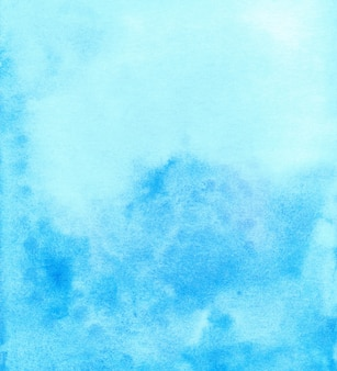 Watercolor light blue background hand painted