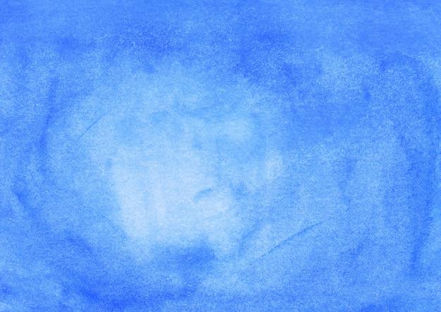 水彩の明るい青の背景テクスチャ手描き