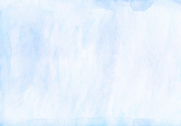 Watercolor light blue background texture. watercolour ice blue stains on paper.