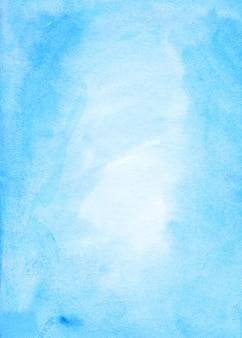 Watercolor light blue background. watercolour pastel sky blue texture.