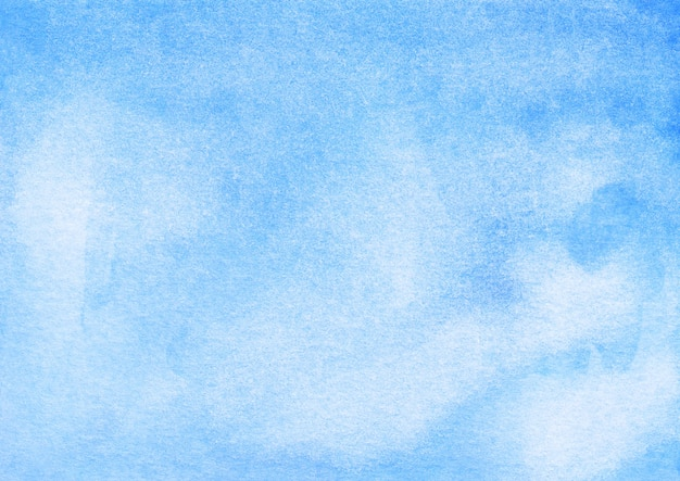 Watercolor light blue ombre background hand painted