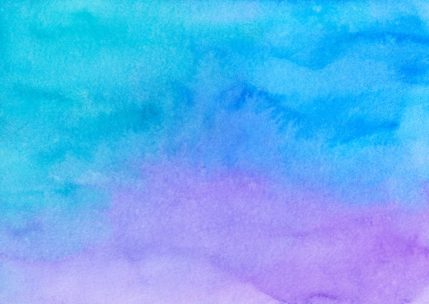 Watercolor light blue and purple ombre background painting texture