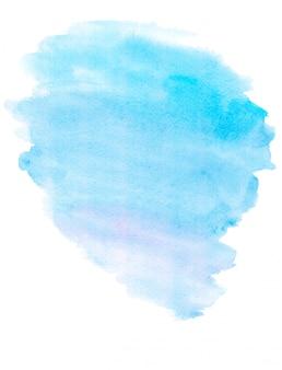 織り目加工のペーパーの水彩水色のスポット。手描きのaquarelle背景