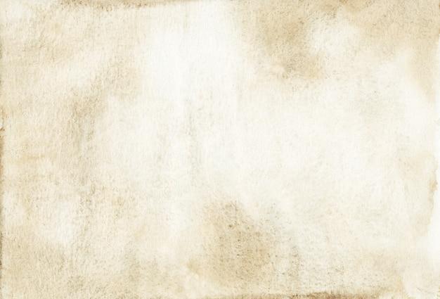 水彩の明るい茶色の背景の絵。古い羊皮紙の背景手描き。