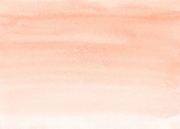 Watercolor light coral gradient background texture. brush strokes on paper. peach color backdrop.