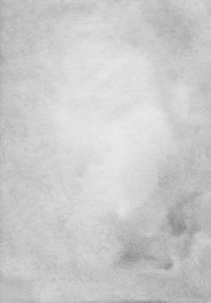 水彩ライトグレー背景テクスチャ。紙の背景に灰色の汚れ。