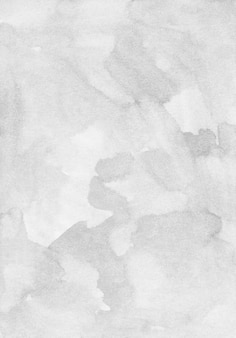 Watercolor light gray background texture. grey stains on paper overlay.