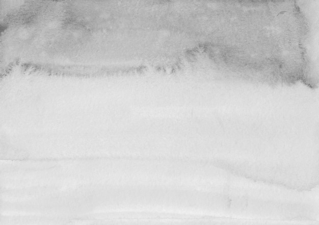 Акварель светло-серый градиент фоновой текстуры. акварель бело-серое омбре.