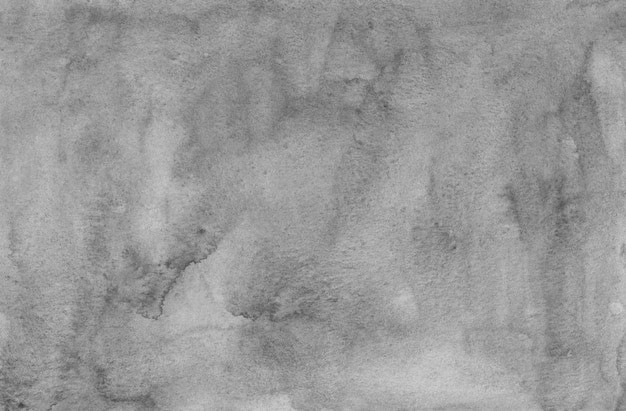 Watercolor light gray stains background texture. monochrome grey painting. black and white background