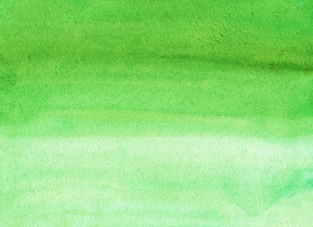 수채화 빛 녹색 선염 배경 텍스처입니다. 해당 파스텔 녹색 그라데이션 배경. 수평 템플릿.