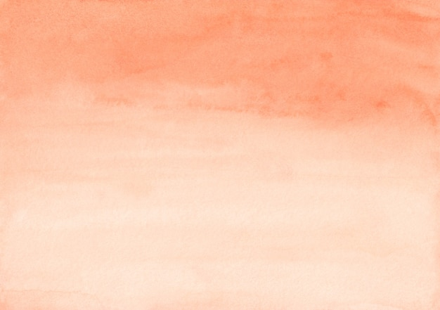 Watercolor light orange gradient background texture. aquarelle carrot color and white gradient backdrop. horizontal template.